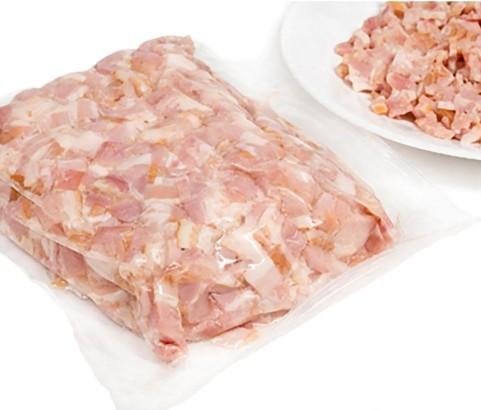 Bacon ahumado molde sin corteza topping