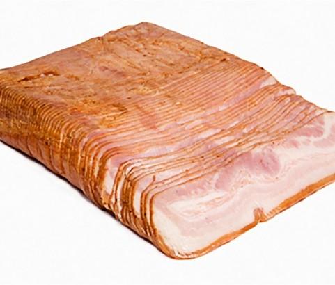 Bacon ahumado molde medias piezas lonchas