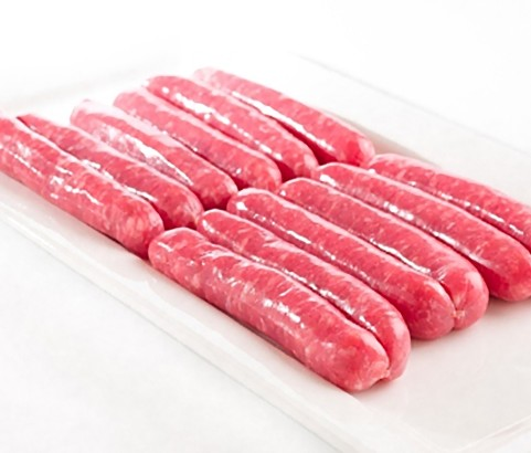Salchicha menú atadas bandeja familiar